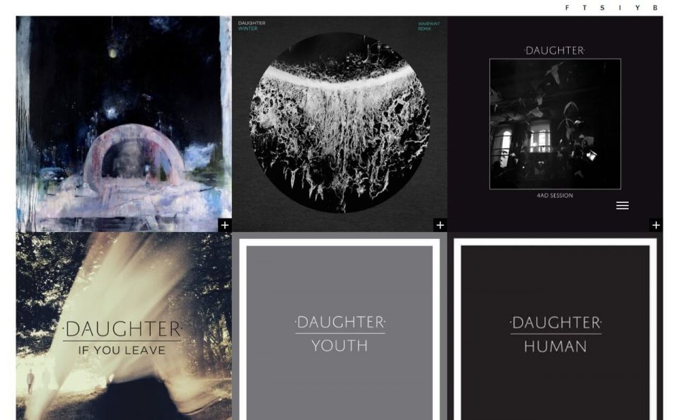 Daughter | Official WebsiteのWEBデザイン