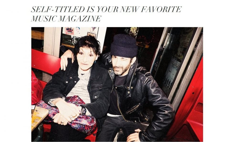 self-titled – your new favorite music magazineのWEBデザイン