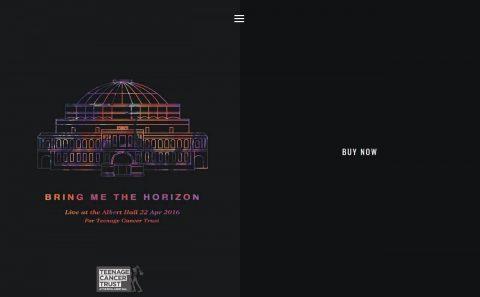 Bring Me The Horizon | That's The SpiritのWEBデザイン