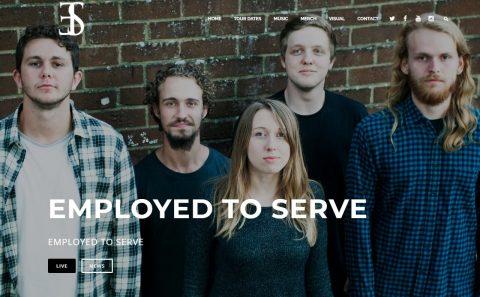 Employed To ServeのWEBデザイン