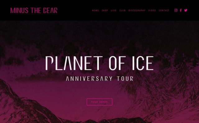 Minus The BearのWEBデザイン
