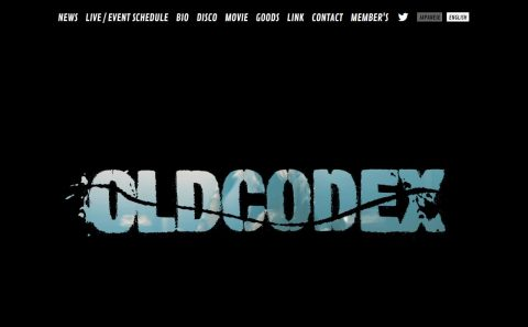 OLDCODEX Official websiteのWEBデザイン