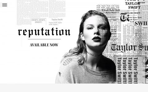 Taylor Swift – Taylor Swift – End Game ft. Ed Sheeran, FutureのWEBデザイン