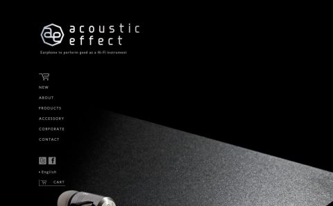acoustic effectのWEBデザイン