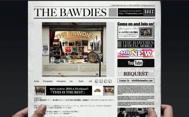 THE BAWDIESのWEBデザイン