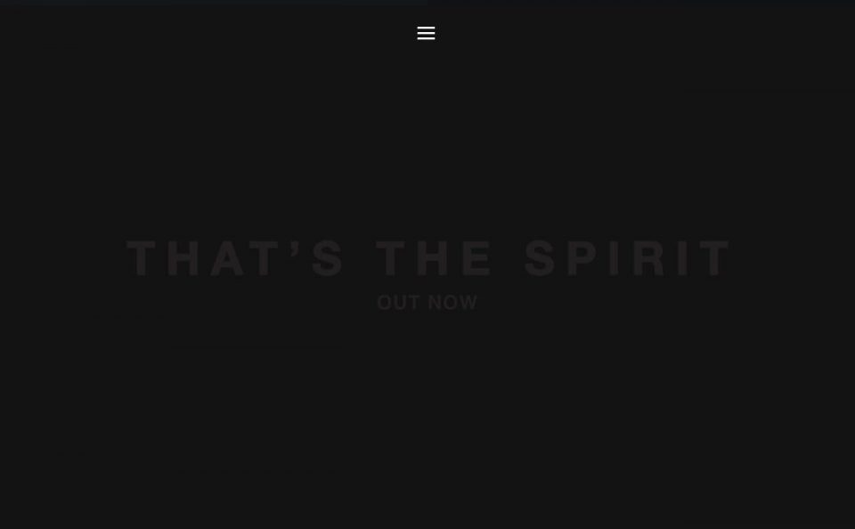 Bring Me The Horizon | That's The SpiritのWEBデザイン