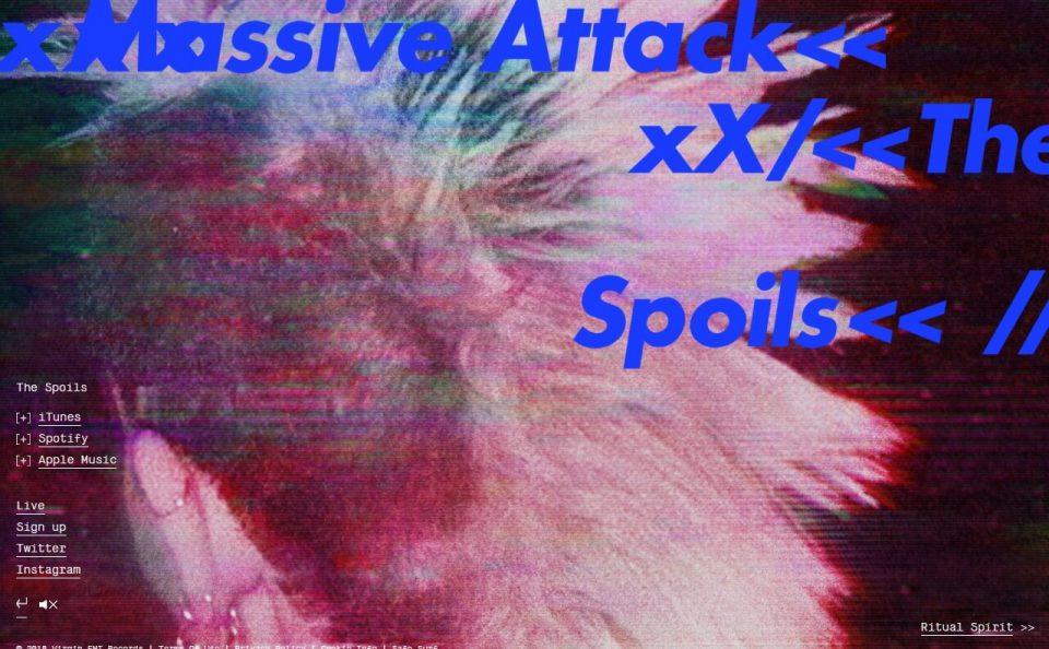Home – Massive AttackのWEBデザイン