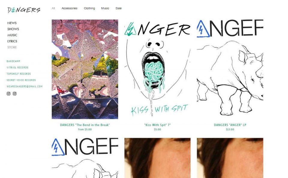 weareDANGERSのWEBデザイン
