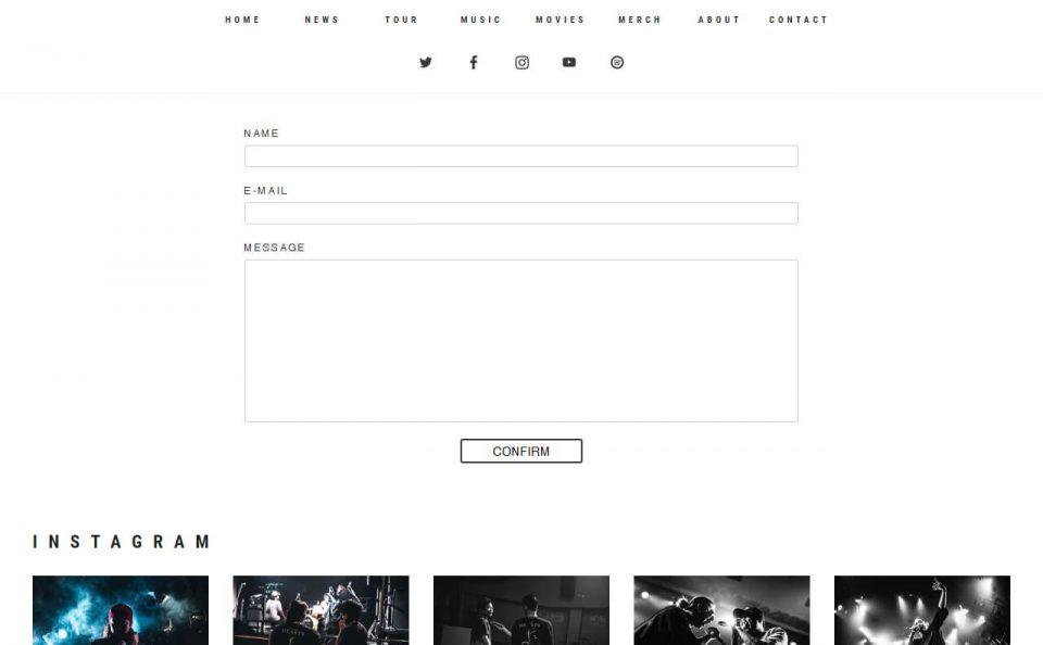 Survive Said The Prophet OFFICIAL WEBのWEBデザイン