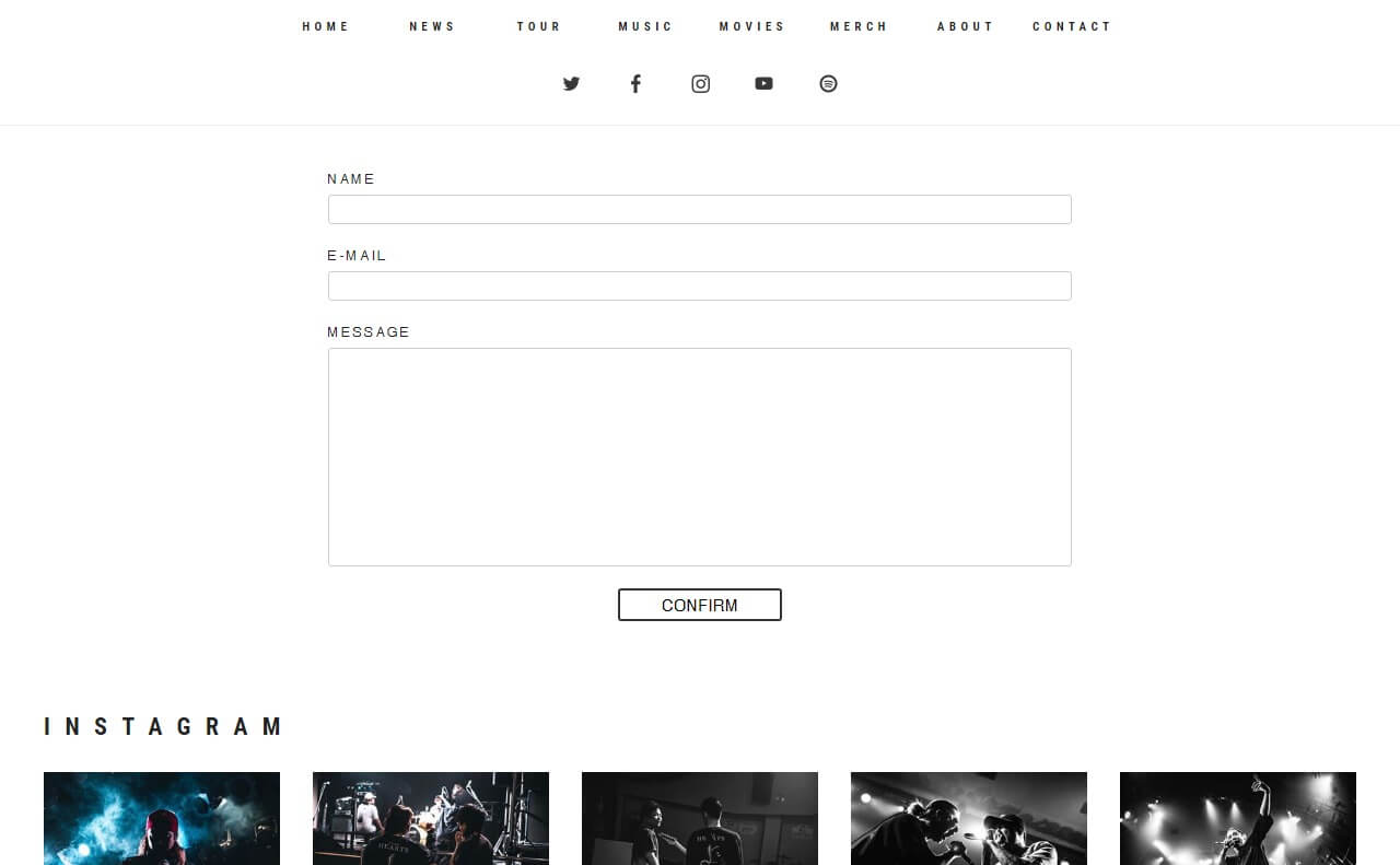 Survive Said The Prophet OFFICIAL WEBのWEBデザイン