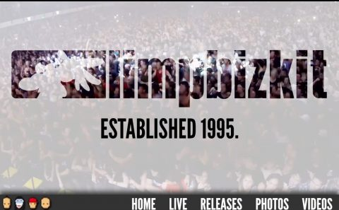 LIMP BIZKIT | Established 1995.のWEBデザイン