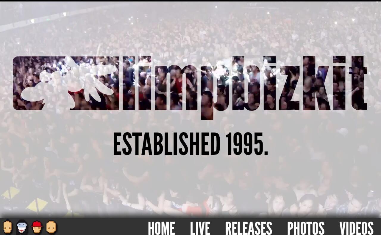 LIMP BIZKIT | Established 1995.のWEBデザイン