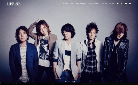 LUNA SEA OFFICIAL WEBSITEのWEBデザイン