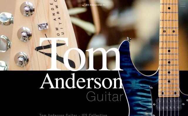 Tom Anderson Guitar|JES International, Inc.のWEBデザイン