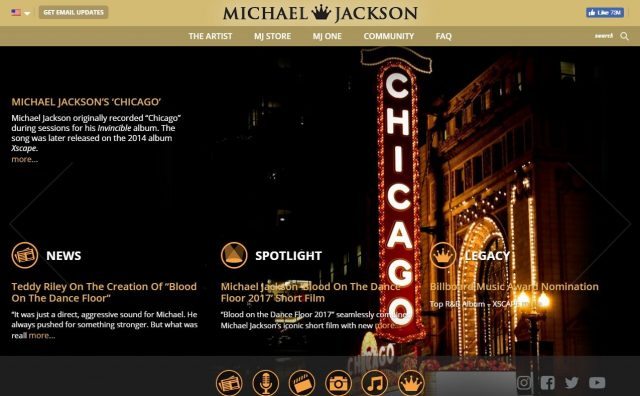Home   Michael Jackson Official SiteのWEBデザイン