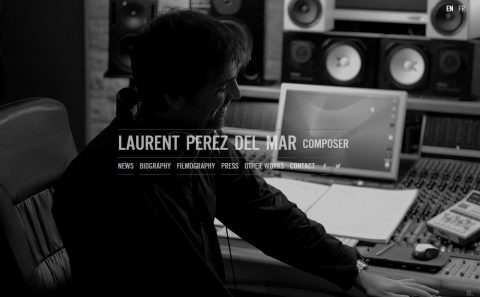 Laurent Perez Del Mar – Feature films music composerのWEBデザイン