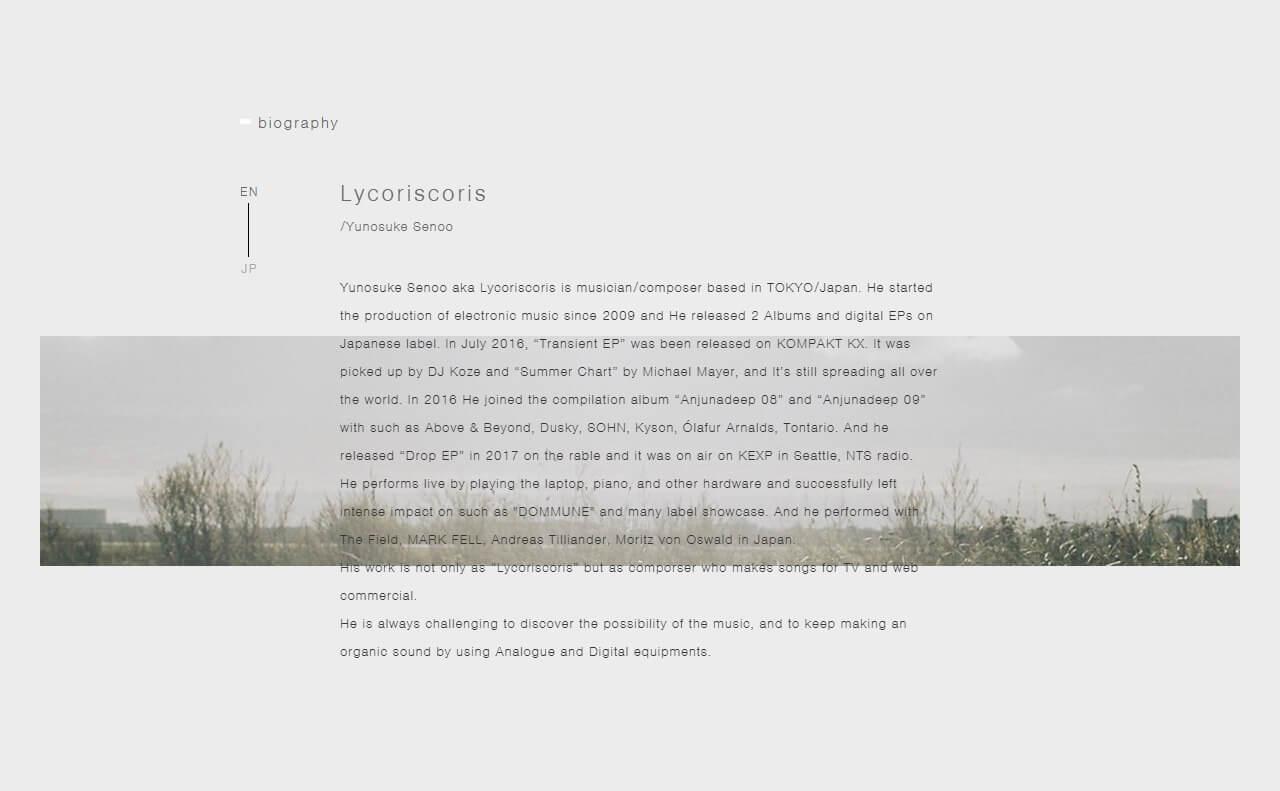 lycoriscorisのWEBデザイン