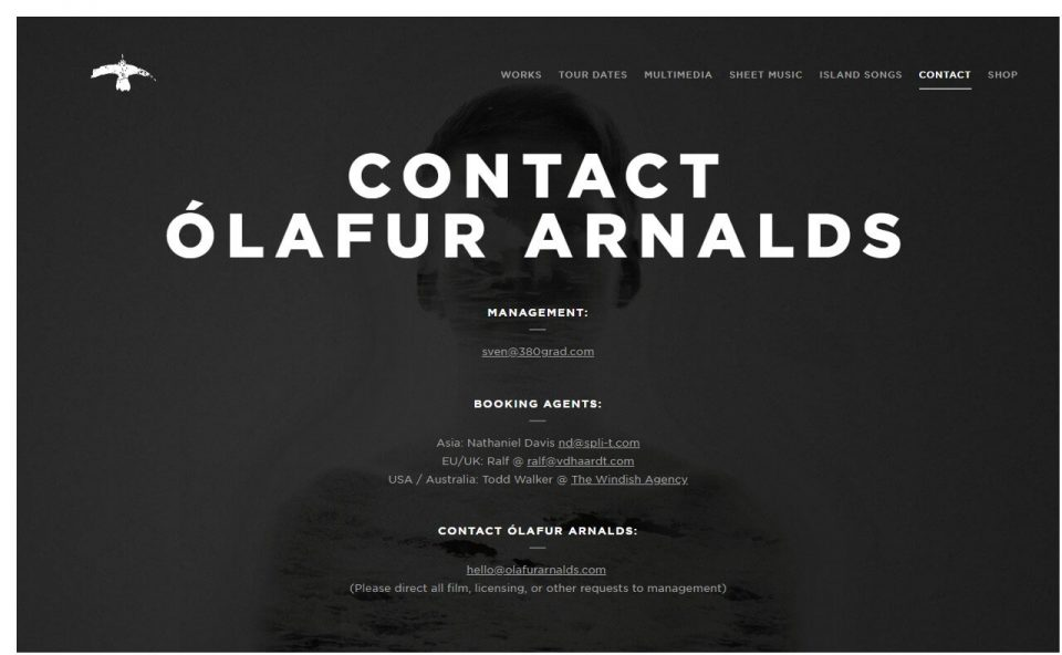 Ólafur ArnaldsのWEBデザイン