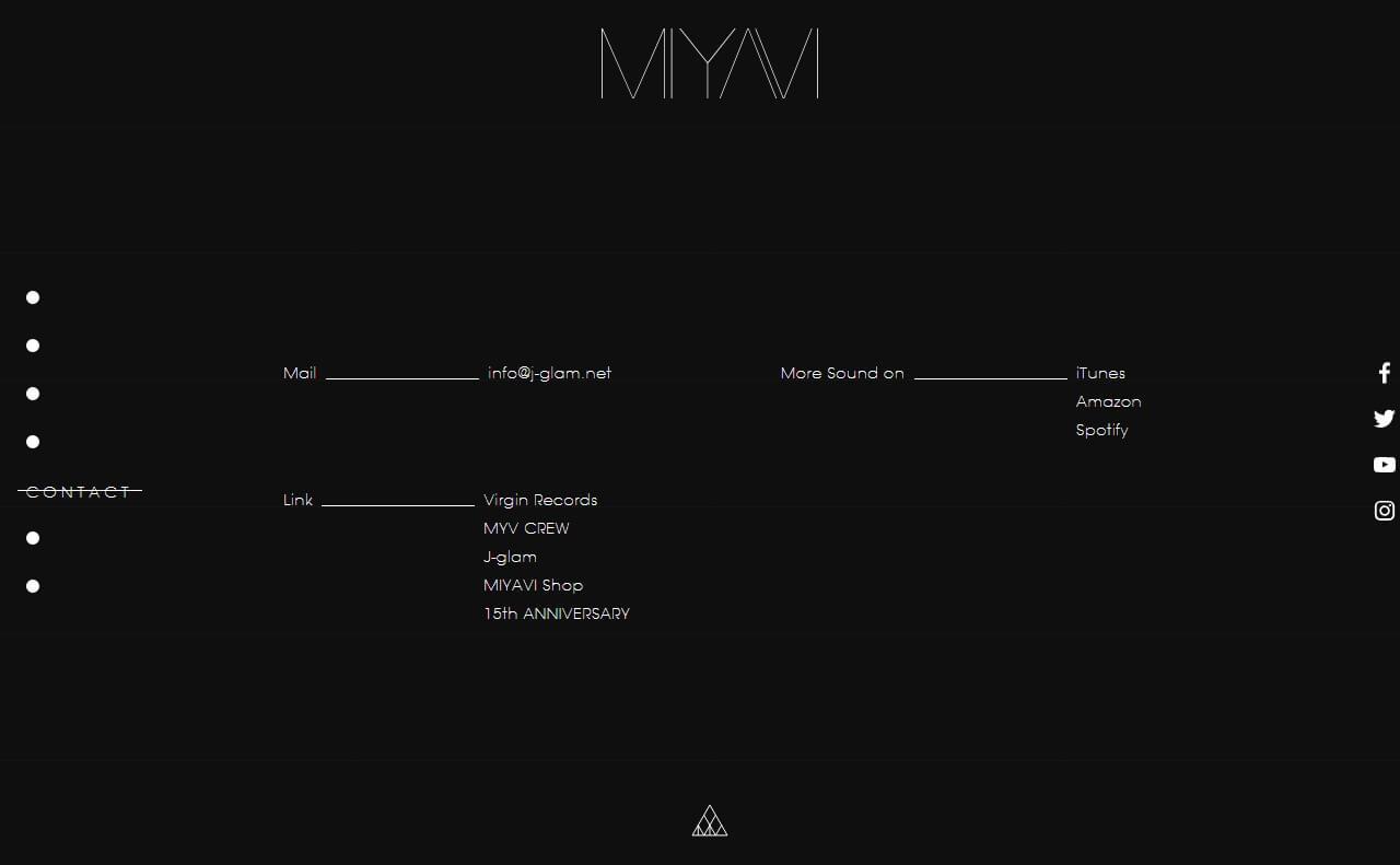 MIYAVI Official Site 【MYV382TOKYO.com】のWEBデザイン