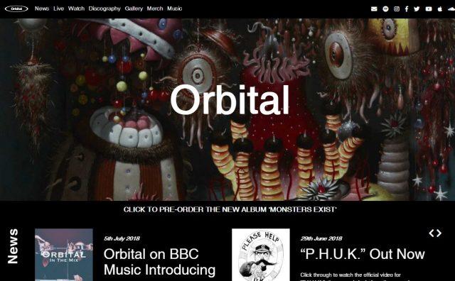 Homepage – OrbitalのWEBデザイン
