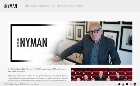 Michael NymanのWEBデザイン