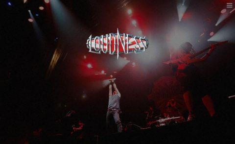 LOUDNESS – Official Website –のWEBデザイン