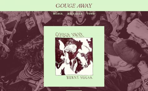 Gouge AwayのWEBデザイン
