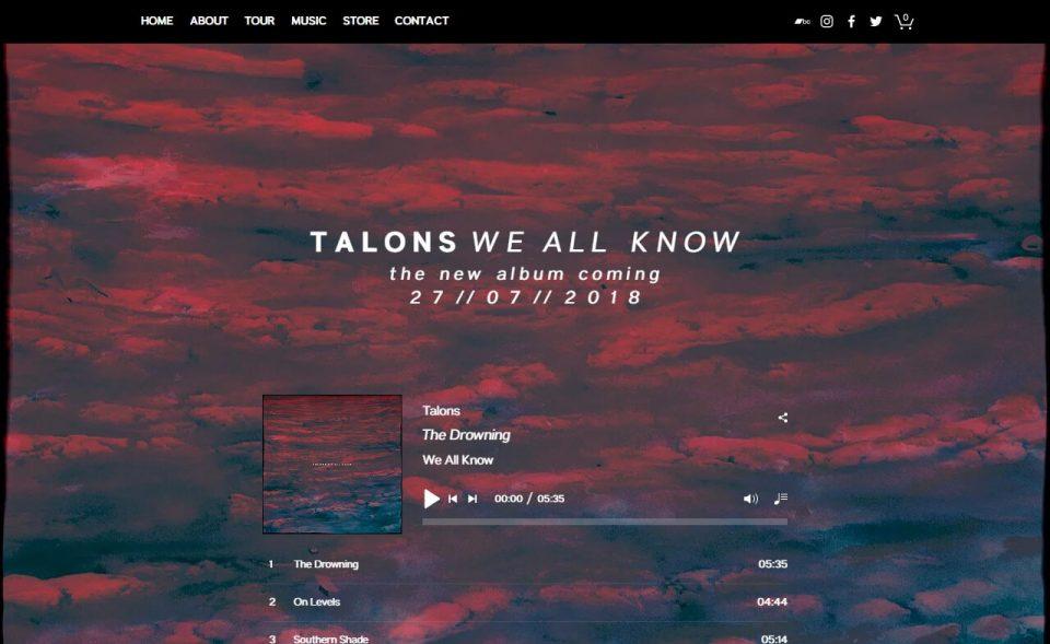 Home | TALONSのWEBデザイン