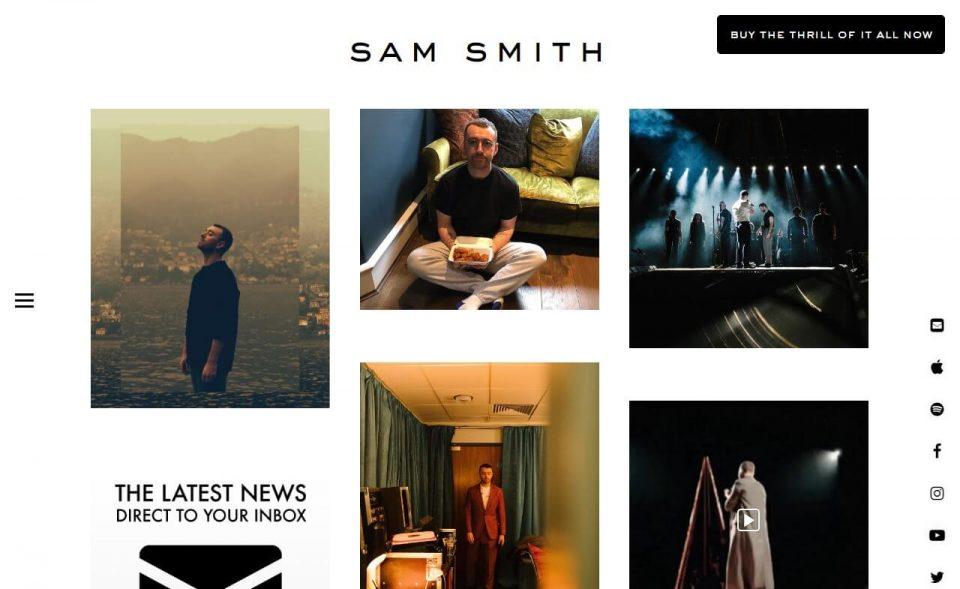 Sam Smith | Home – Sam SmithのWEBデザイン