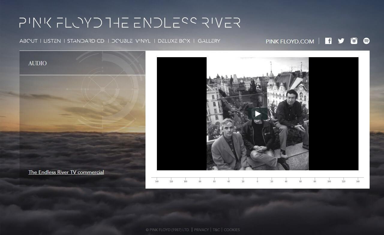 Pink Floyd Endless RiverのWEBデザイン