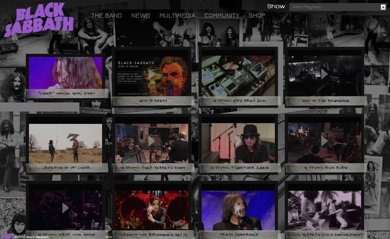 The Official Black Sabbath Website ::のWEBデザイン