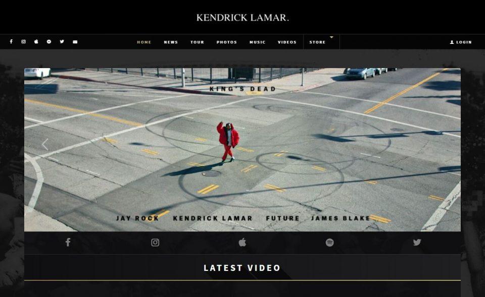 Kendrick Lamar   Official SiteのWEBデザイン