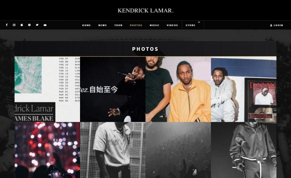 Kendrick Lamar | Official SiteのWEBデザイン