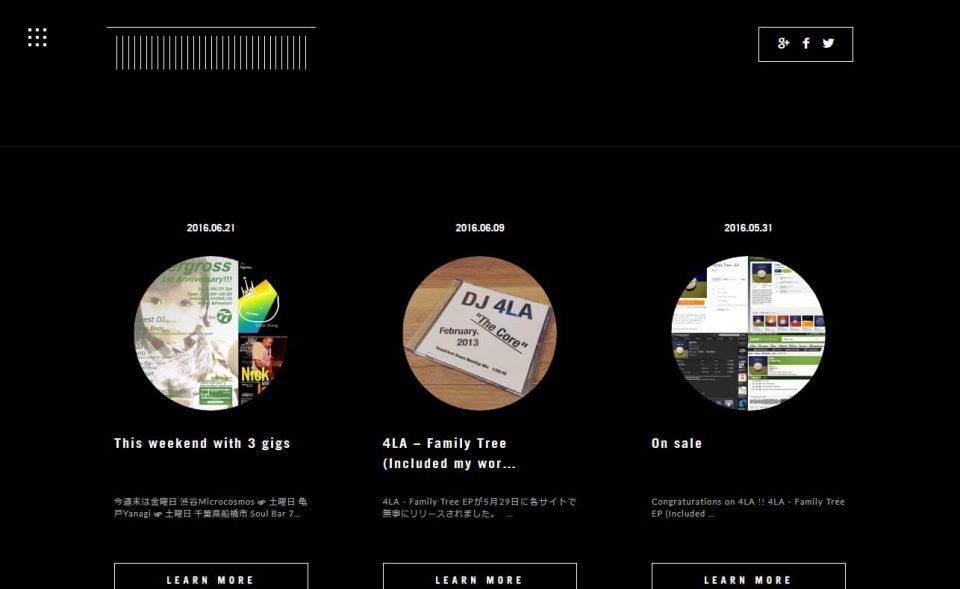 KENJI ENDOのWEBデザイン