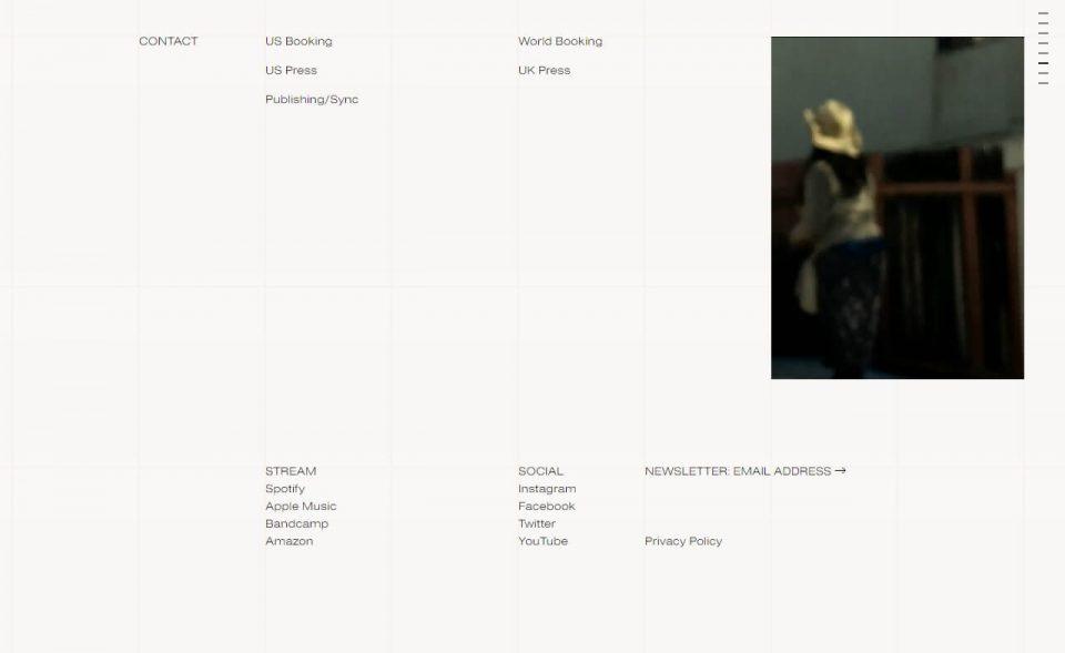 BalmorheaのWEBデザイン