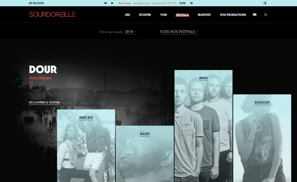Sourdoreille | Humeurs musicalesのWEBデザイン
