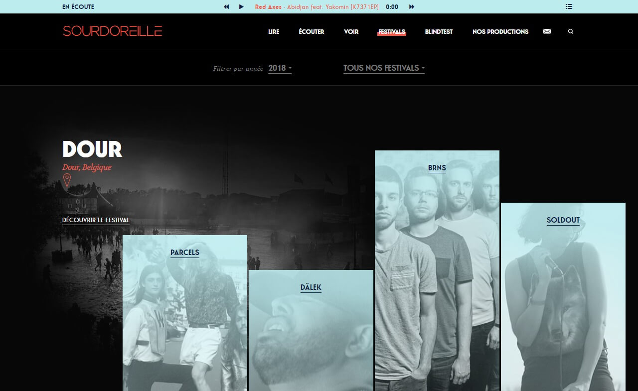 Sourdoreille | Humeurs musicalesのWEBデザイン