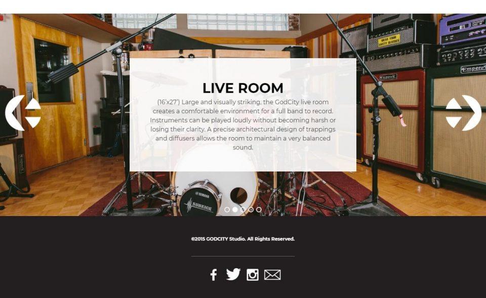 GodCity Studio | We record sounds.のWEBデザイン