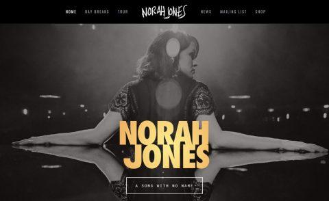 Norah JonesのWEBデザイン