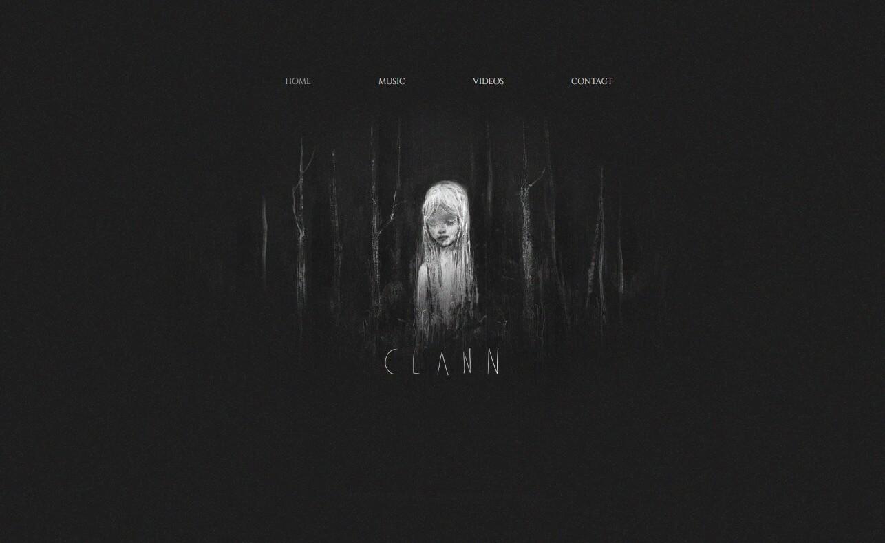 clannのWEBデザイン