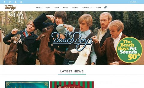 The Beach Boys | HomeのWEBデザイン