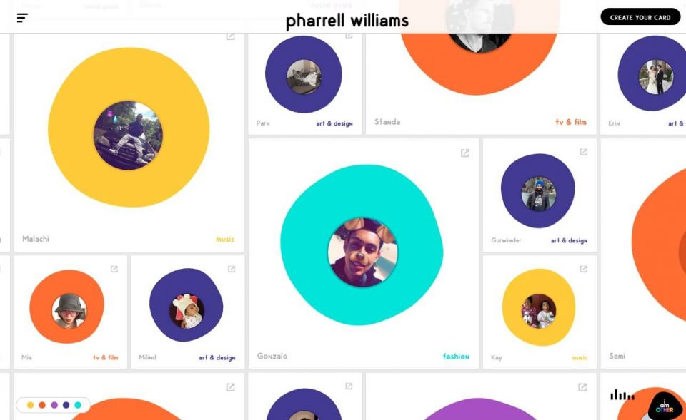 Pharrell WilliamsのWEBデザイン