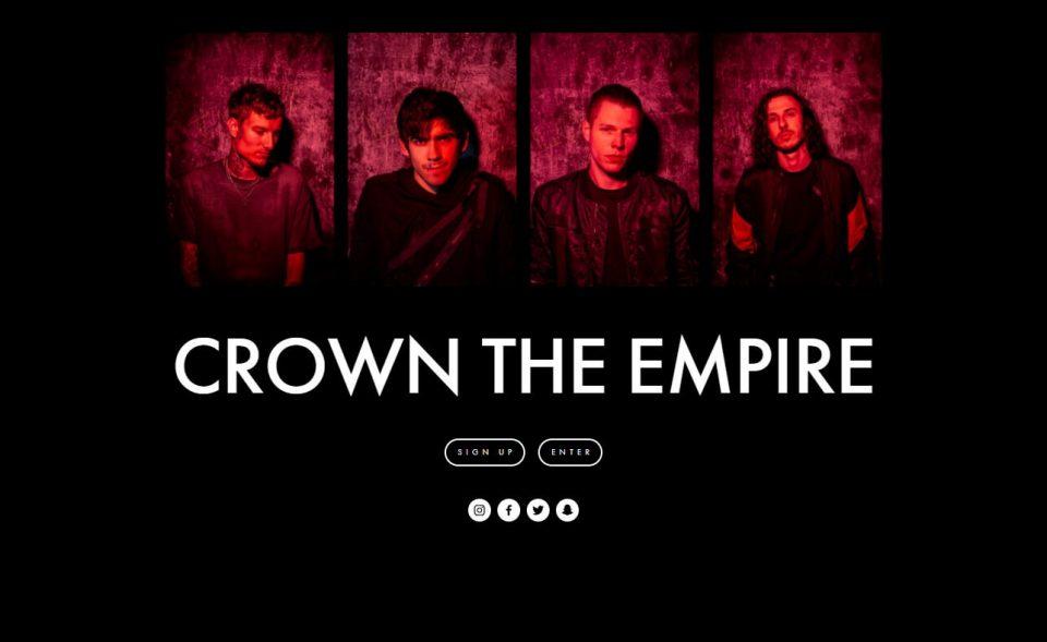 Crown The EmpireのWEBデザイン