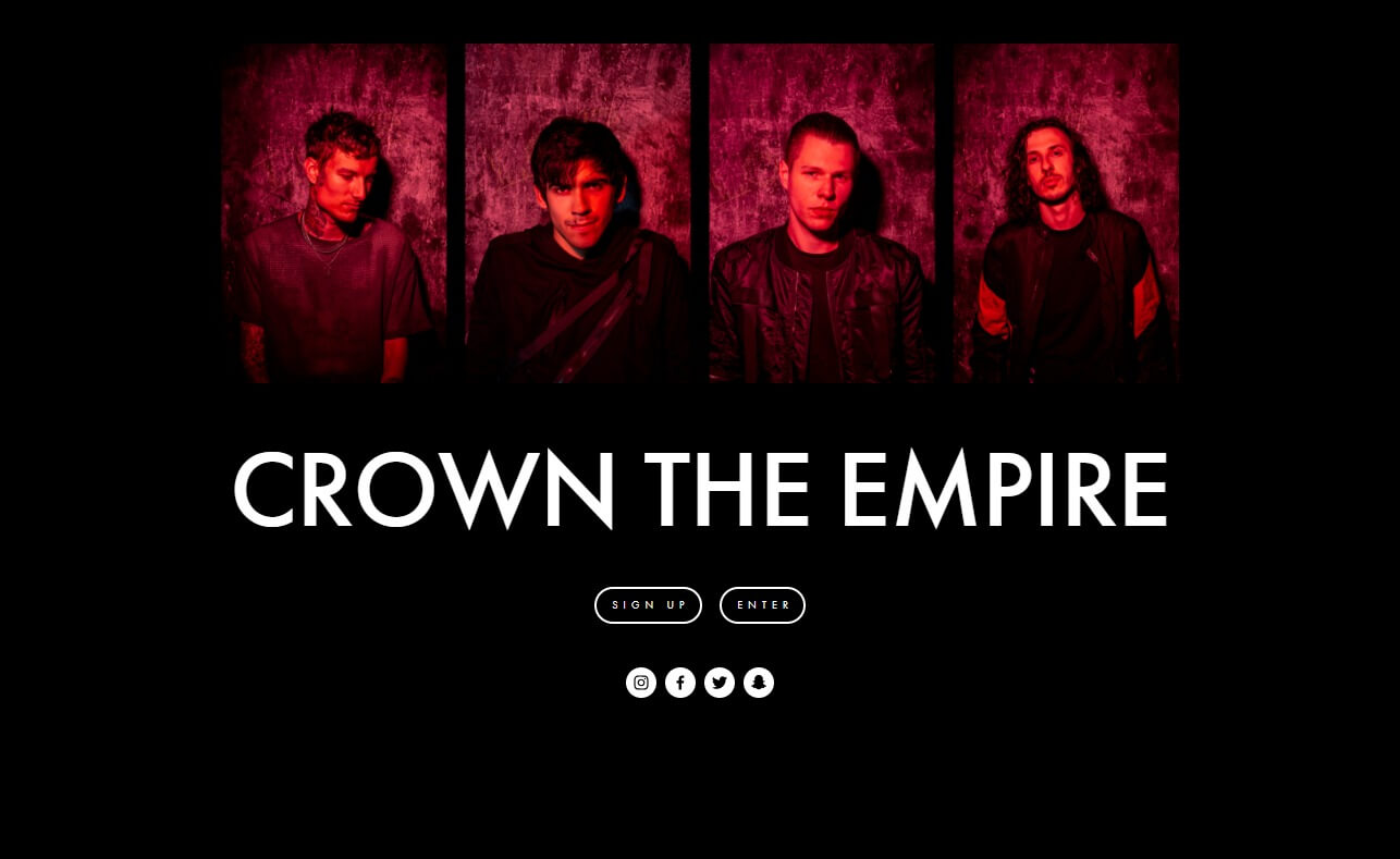 Crown The EmpireのWEBデザイン