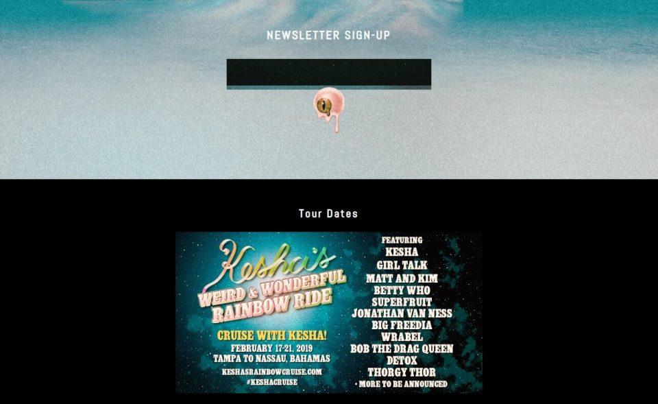 Kesha Official SiteのWEBデザイン