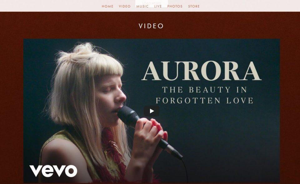 AURORA   OFFICIAL WEBSITEのWEBデザイン