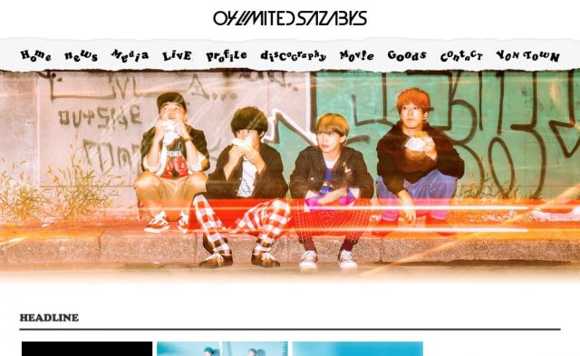 04 Limited Sazabys OFFICIAL WEB SITEのWEBデザイン