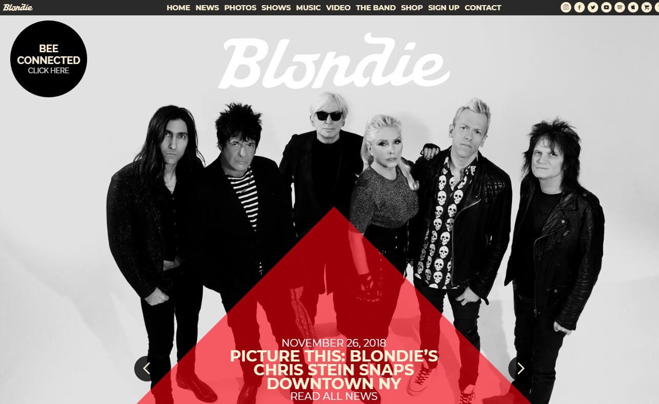Blondie – Official WebsiteのWEBデザイン