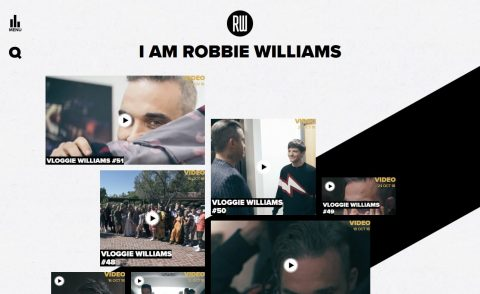 Robbie Williams – The Heavy Entertainment ShowのWEBデザイン