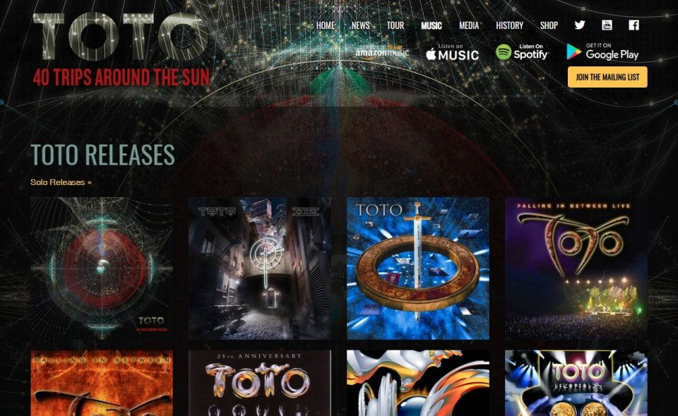 TOTO – The official TOTO websiteのWEBデザイン